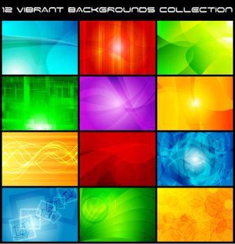 colorful vector background collection by vectorbackgrounds