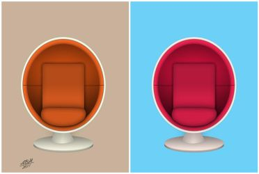 Ball Chair Pop Art by abh83