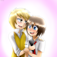 FreddyxGolden #FNAFHS fan art by AdriKoneko-Mizuiro