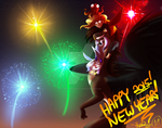 Happy New Years! 2015 by SolarPaintDragon