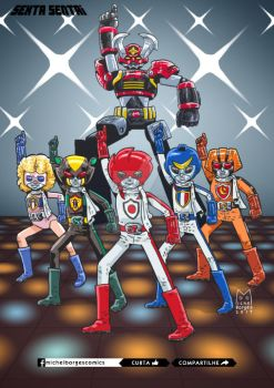 Sexta sentai 3: Battle Fever by michel-borges