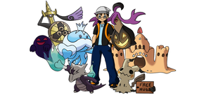 Pokemon Trainer / Team - Sugimori Style - FINAL