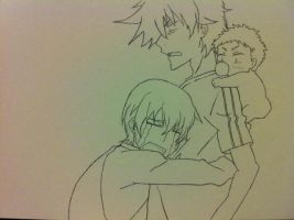 Oga, Furuichi and Baby Beel~ by Simba650