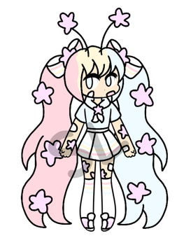 {CLOSED!/CHEAP AUCTION} - Multi-colored Star Gal by CheapClothesAdopts