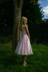 Girl in dress stock by A68Stock