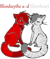 BloodScythe and Silverheart by Spotted73