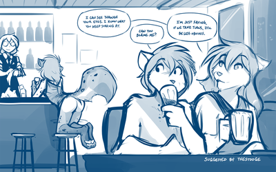 Drinks and Distraction by Twokinds