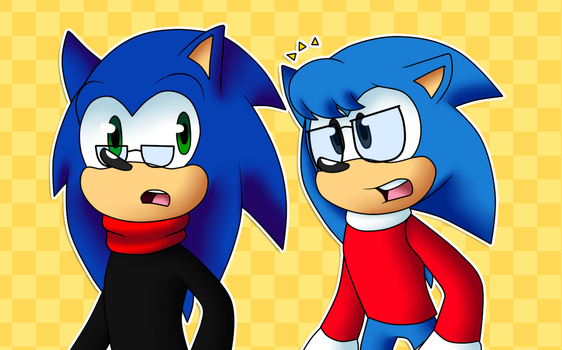 .:Sonic and Nicky:. by SweaterHedgie