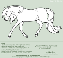 lineart horsey by shy-fox