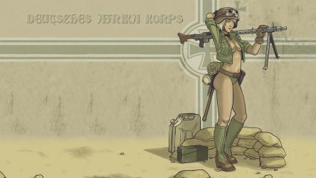 3RD REICH TROOPS DAK Babe by eviltediz43 by PanzerBob