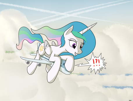 Celestia Pranks a Flight by RapidStrike