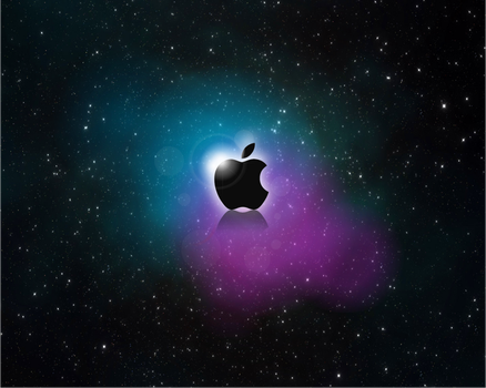 Wallpaper Apple Space by jetc21