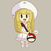 Chibi Lillie (and Hidden Nebby) by Eriniin
