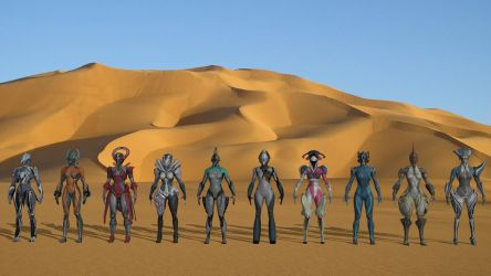 XPS Release! Warframe Pack Female by Fuzzy-Moose