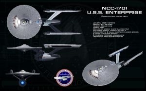 Constitution Refit -  NCC - 1701 USS Enterprise by unusualsuspex