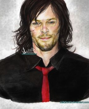 Norman  Reedus - big-bald-head by zelldinchit