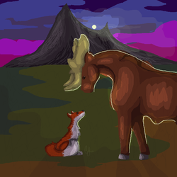 The Moose and the Fox by ChloeMaeJ