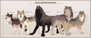 Tazi's DoTW Wolves by Tazihound