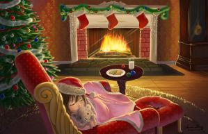 Waiting for Santa by WhisperingSoul