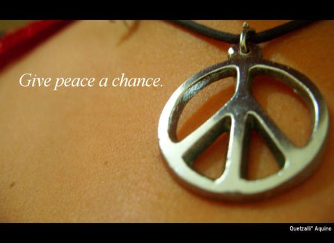 Give peace a chance by ktzLee