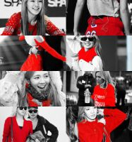 PICSPAM HYOYEON BLACK AND RED by Ckipchip2k