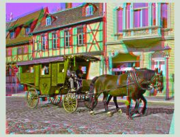 Stagecoach in Anaglyph 3D by zour