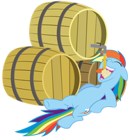 Rainbow Dash and all the cider she can drink by Stabzor