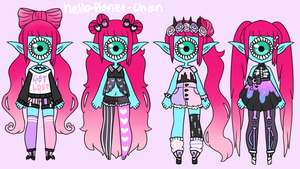 Outfit Set - Eyecing by hello-planet-chan