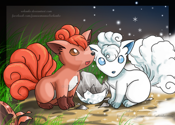 Vulpix fire and ice by rebenke