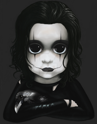 Eric Draven from The Crow BITTY BADDIES by jodyparmann