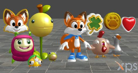 Super Luckys Tale Models For XNALara by user619