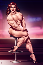 Muscle Diner Nude Ver. by JanRockitnik