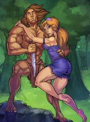 Tarzan and Jane_colored by k-omer