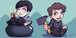 Dan and Phil Get Over It by aprildiamond101
