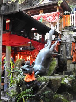 Fushimi Inari Shrine fox 1 - Kyoto by wildplaces