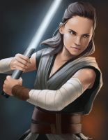 Rey: The Last Jedi by nikdrawson