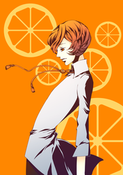 orange poler tie by ichi23