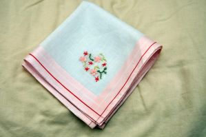 Flowers Hankie 3 by VickitoriaEmbroidery
