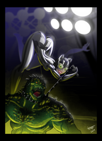 Catwoman Vs Killer Croc by TOTOPO