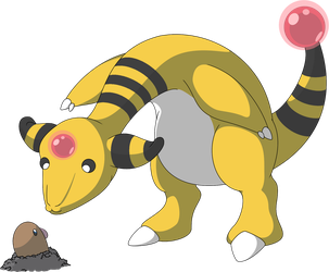 Ampharos by Wakerra
