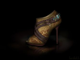 Pocahontas Shoe - Disney Sole by becsketch