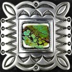 Amerindian Navajo Decal Badge with Green Turquoise by LilipilySpirit