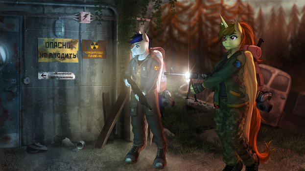 Commission: Tunnel Explorers by MykeGreywolf