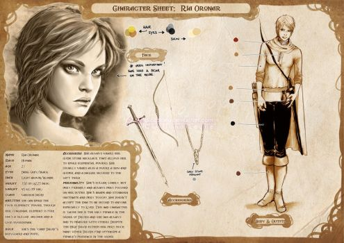 Character Sheet: Ria by CristianaLeone
