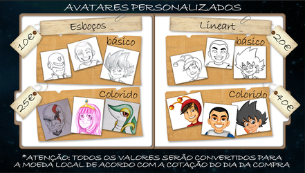 Commission Prices - Avatar by vcdesenhos