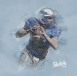 Sketch FX - Photo Effect for Photoshop Quarterback by templay-team