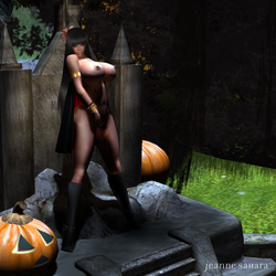 Me as Vampirella in Busted 2011 halloween issue! by jewelvoix