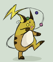 Jugglin' Raichu by BijuHost08