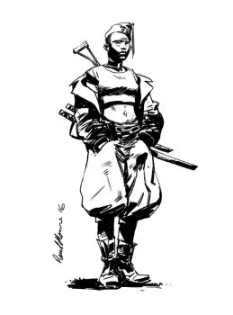 Dahomey Warrior by Paul-Moore