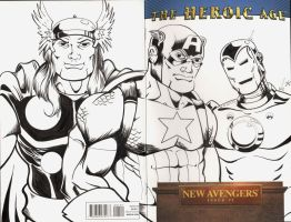 Avengers Sketch Cover by The-Standard